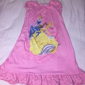 Disney Pink Night Dress w/ Disney Princesses
